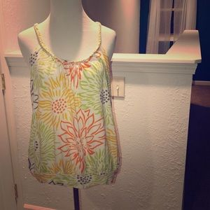 Beautiful bright floral tank